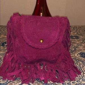 Handbags - Bag Suede Fringes Crossbody